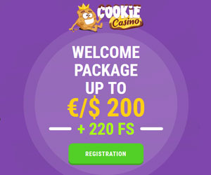 Featured bonus from Cookie Casino